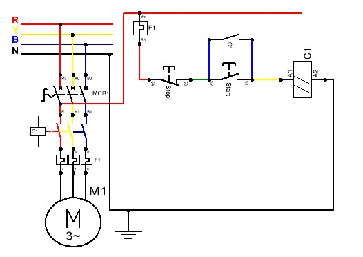 Пневматический контактор схема подключения